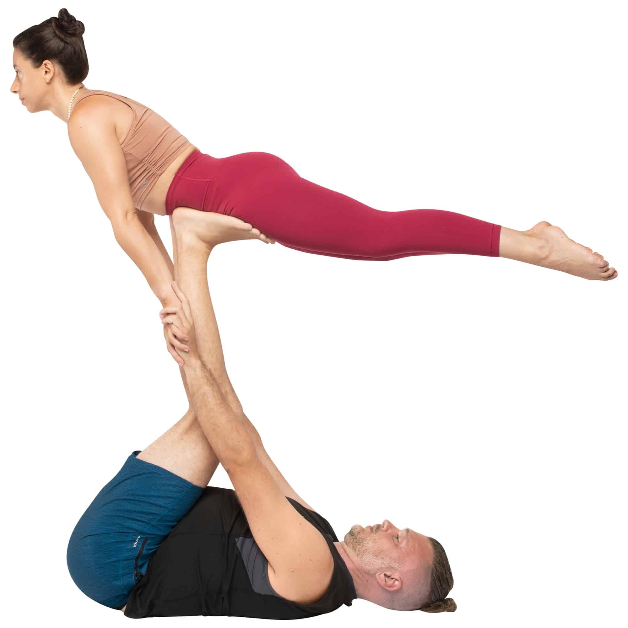 acroyoga haltung pose Reverse Front Plank