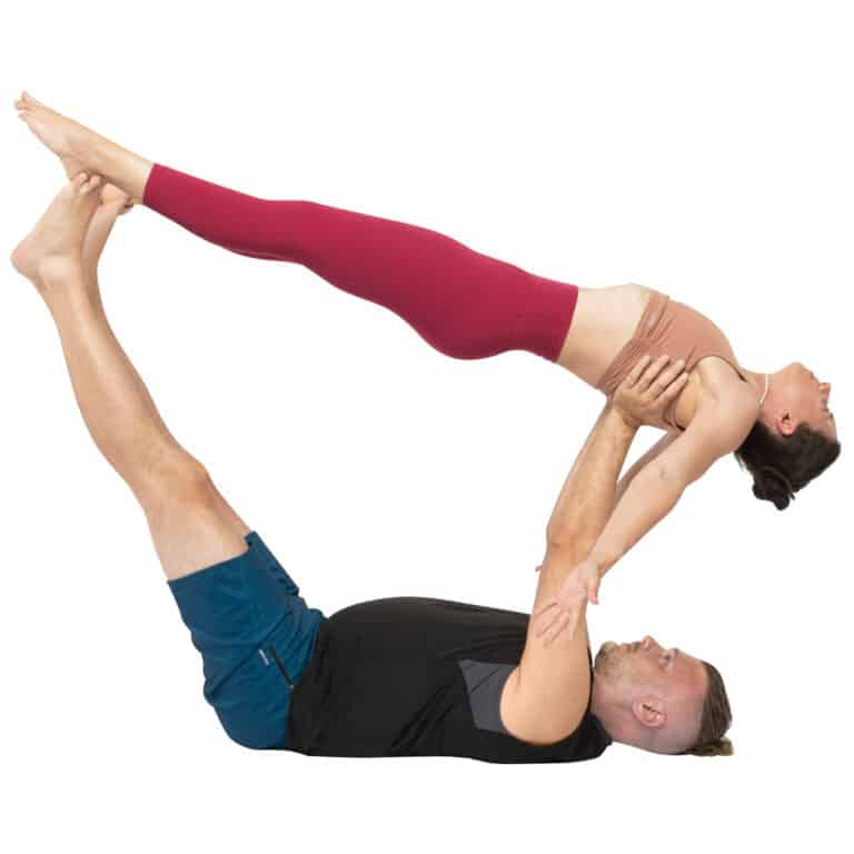 acroyoga haltung pose reverse High Flying Whale