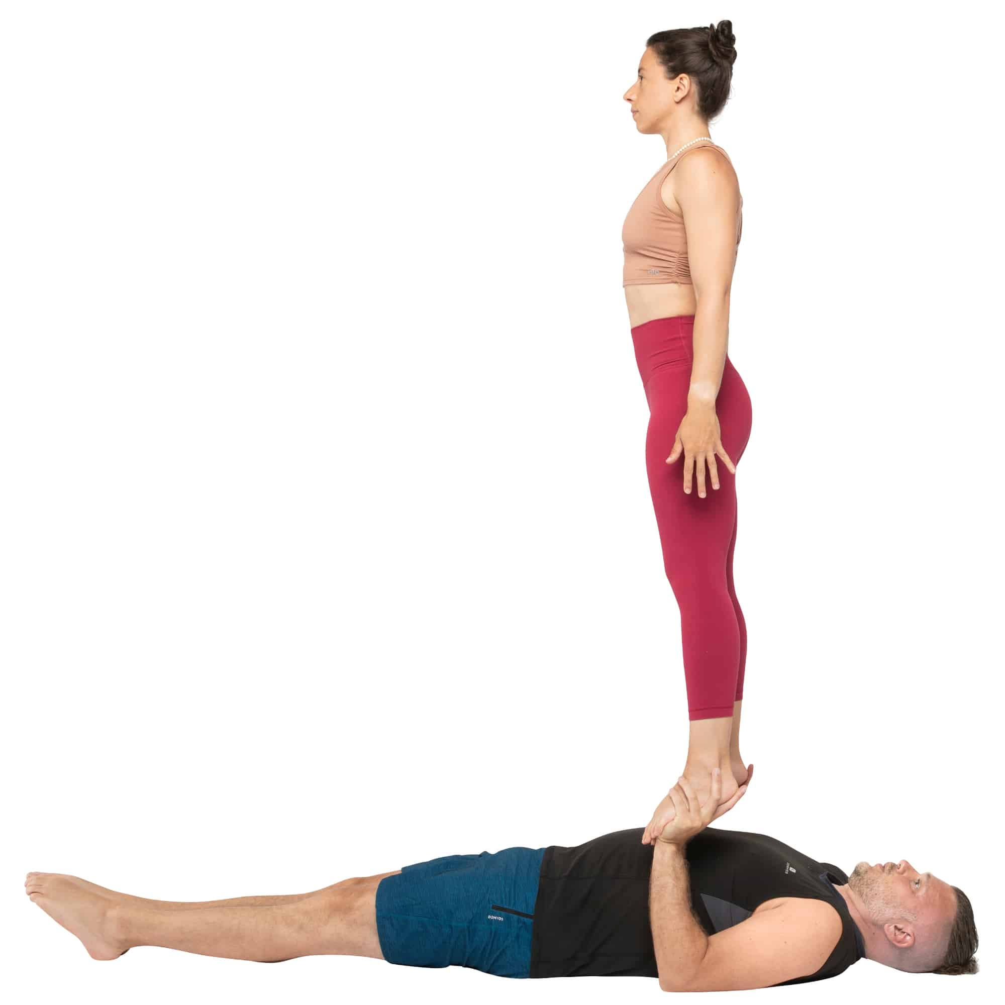 acroyoga haltung pose (low) Foot to Hand