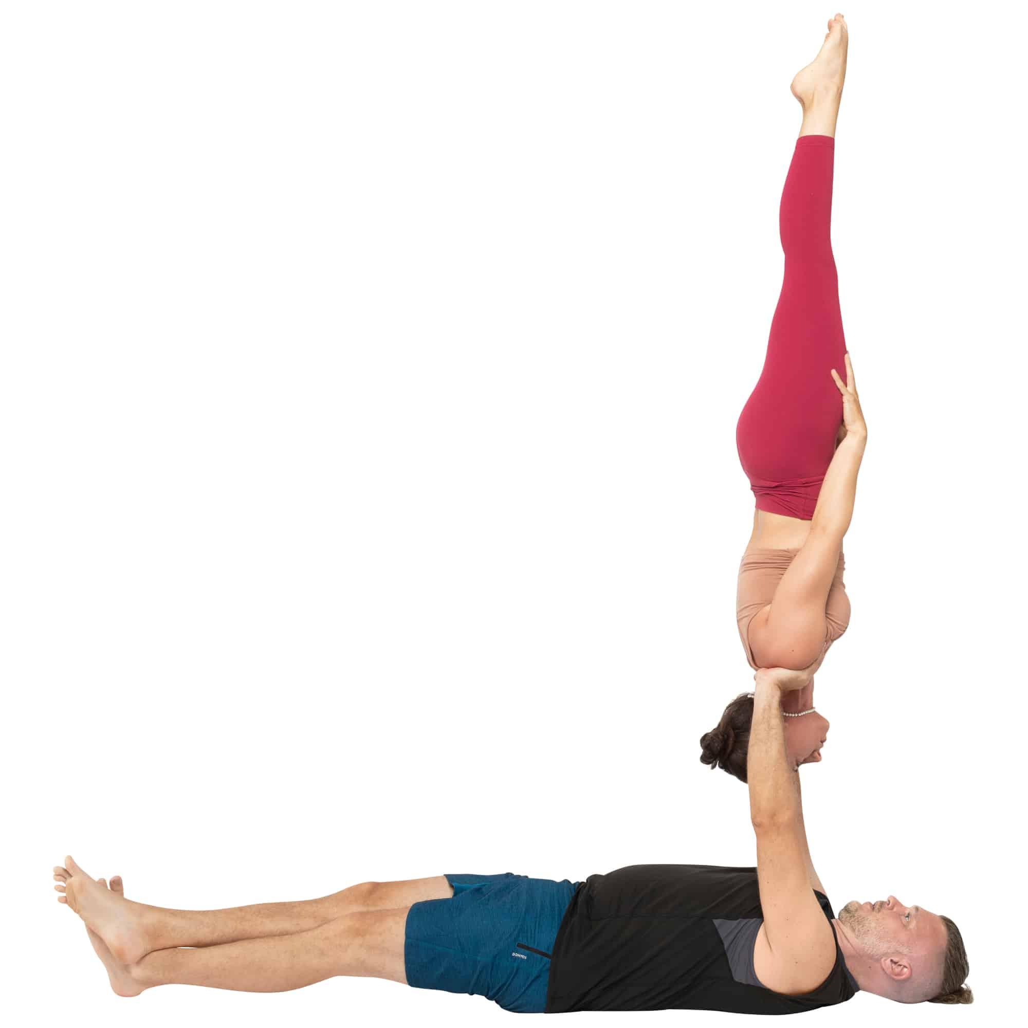 acroyoga haltung pose Reverse Needle