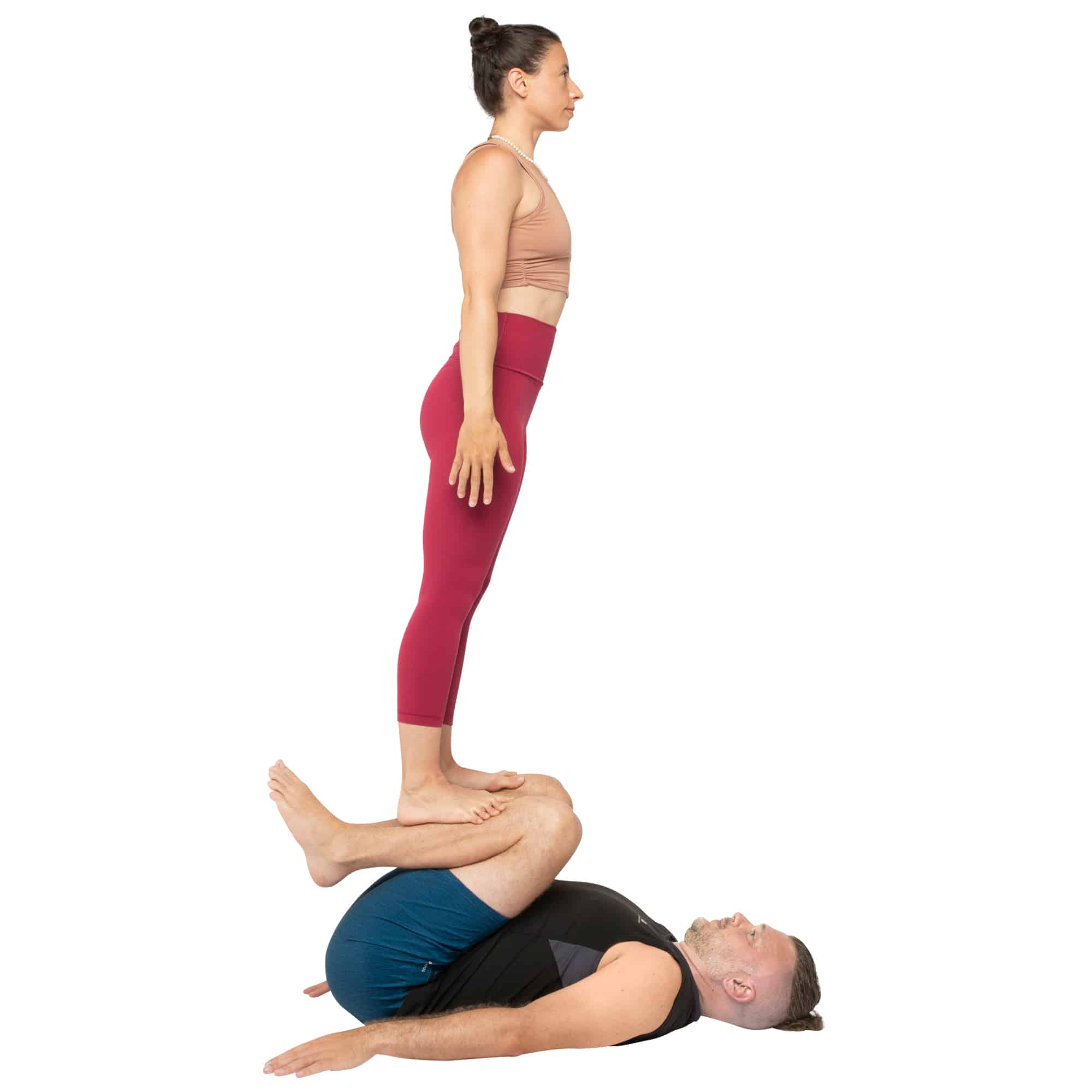 acroyoga haltung pose Foot to Shin