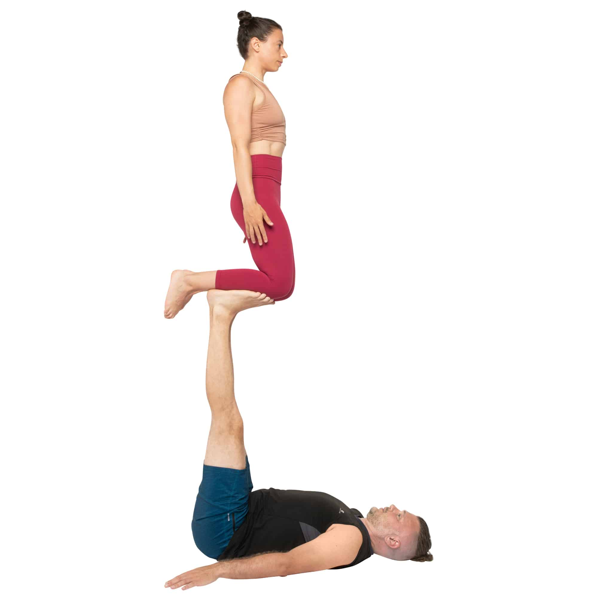 acroyoga haltung pose Shin to Foot