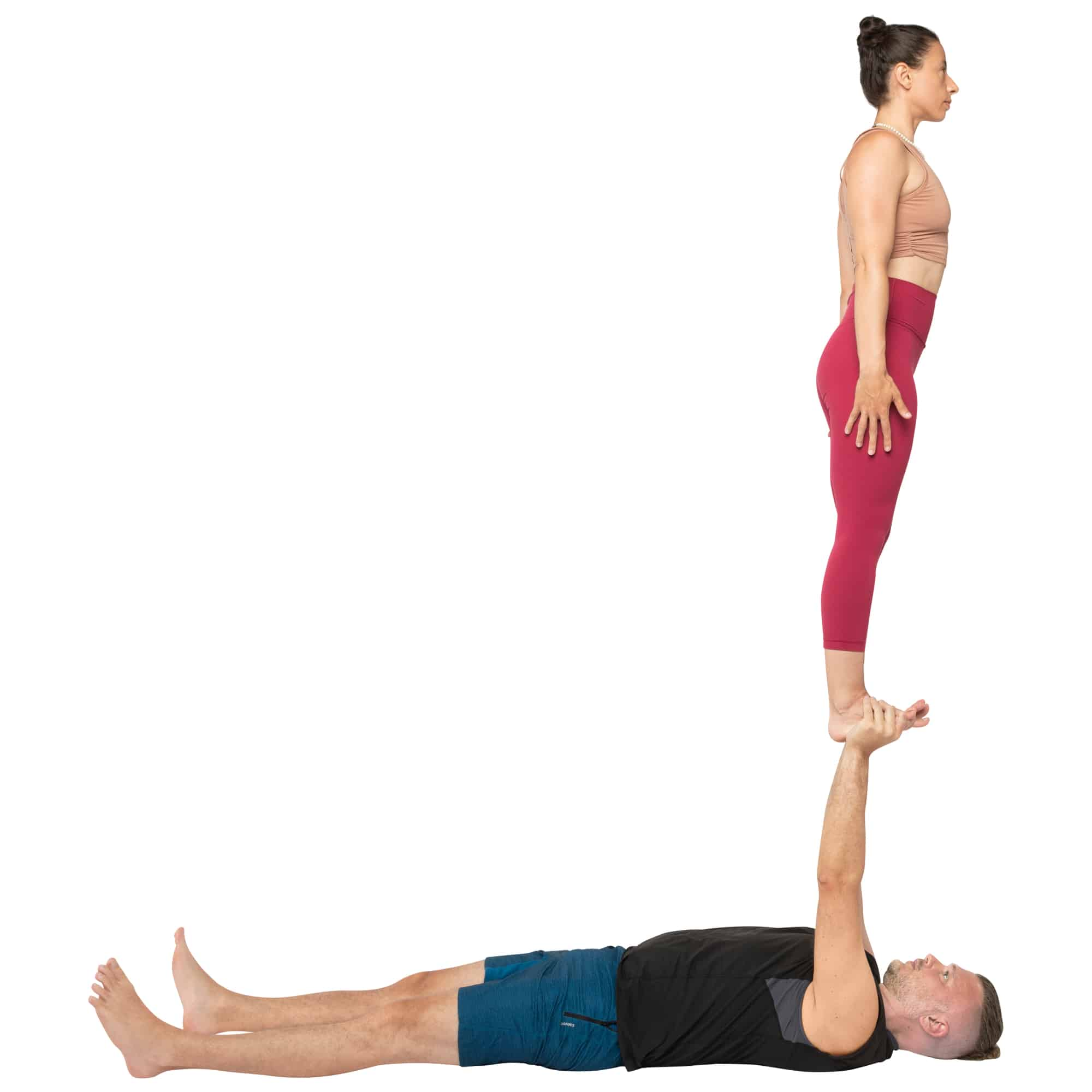 acroyoga haltung pose Reverse Foot to Hand