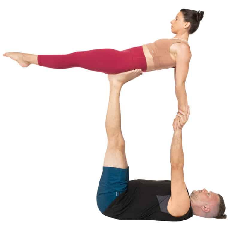 acroyoga haltung pose supported Back Plank