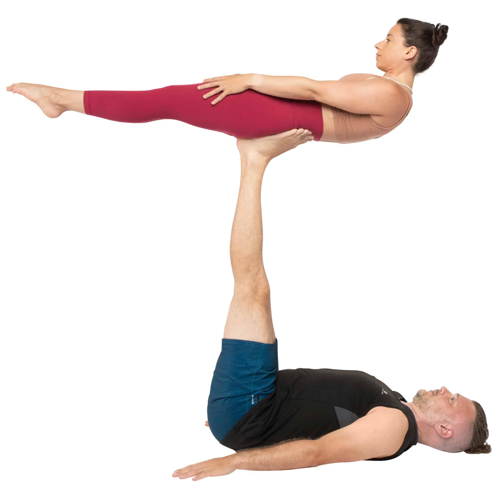 acroyoga haltung pose Back Plank