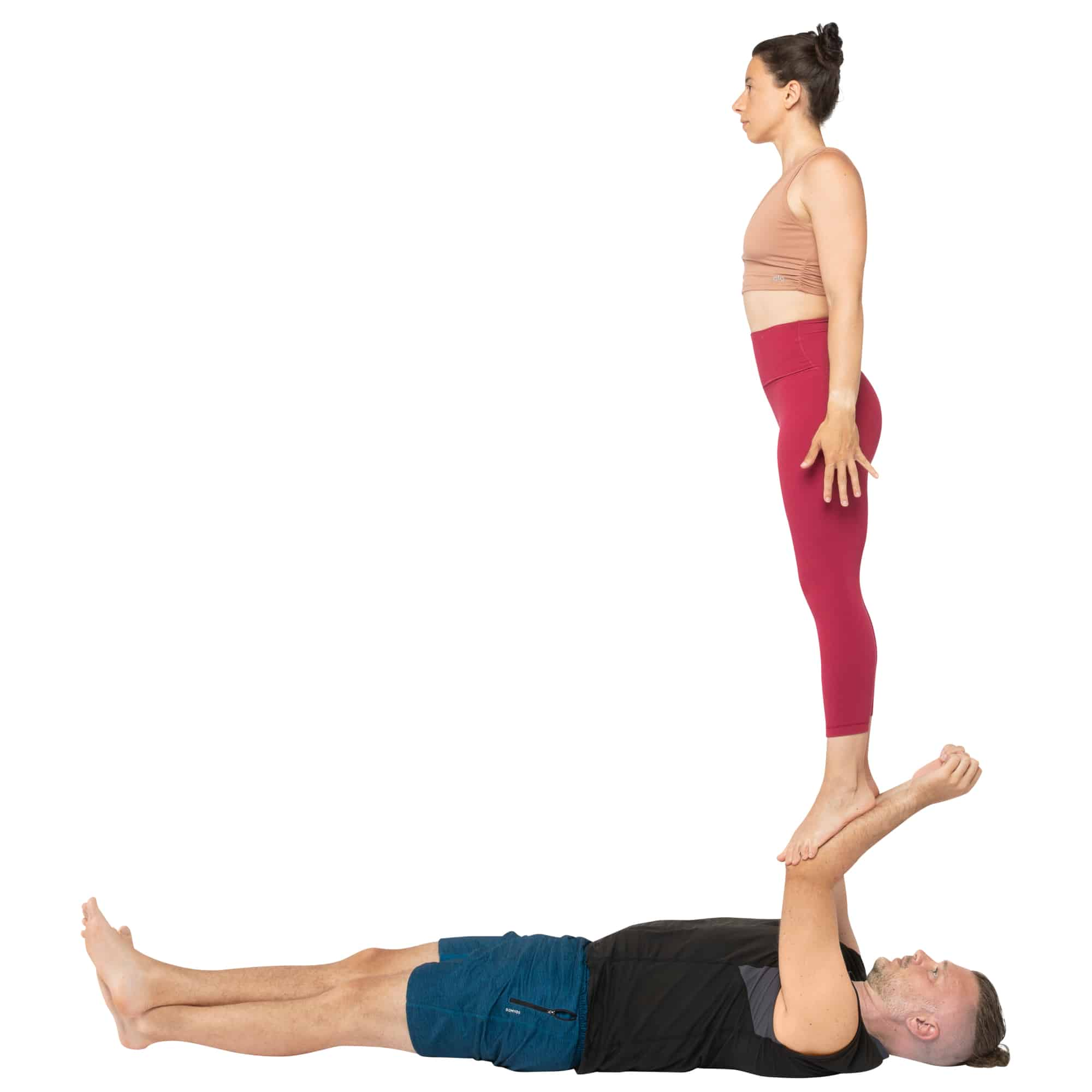 acroyoga haltung pose Foot to Forearm