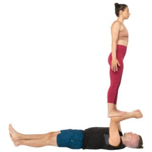 acroyoga haltung pose Reverse Foot to Forearm